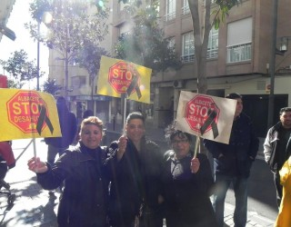 Manifestación de la Plataforma STOP Desahucios
