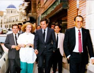 Visita de  Adolfo Suárez a Hellín en 1985