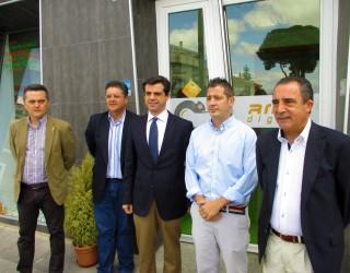 Visita del delegado en Albacete de la Junta de Comunidades
