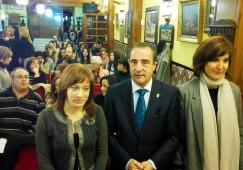 Silvia Navarro junto Manuel Mínguez e Irene Moreno