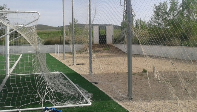 Quejas de estado del Campo de Fútbol de la Nava