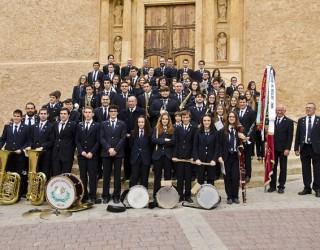 Actuación de la La Unión Musical Santa Cecilia en el Teatro Aguado de Elche de la Sierra