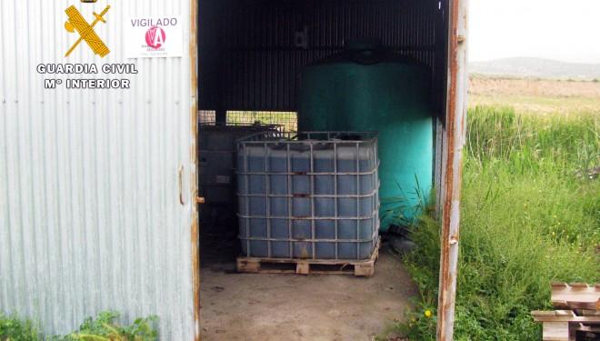 Un detenido por robar 500 litros de gasoil de uso agrícola