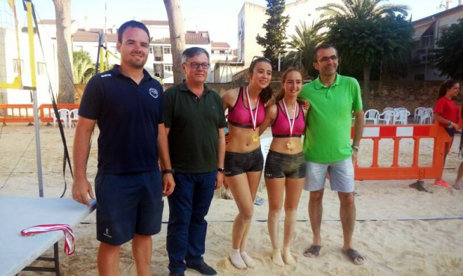 Campeonas Voley playa.