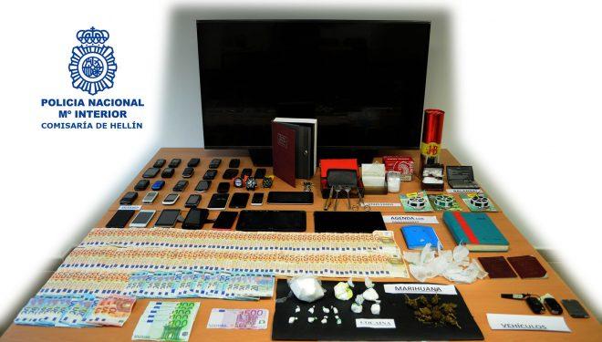 Cuatro detenidos en Hellín por tráfico de drogas