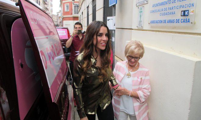 Ruth Lorenzo a la llegada a Hellín / EFDH
