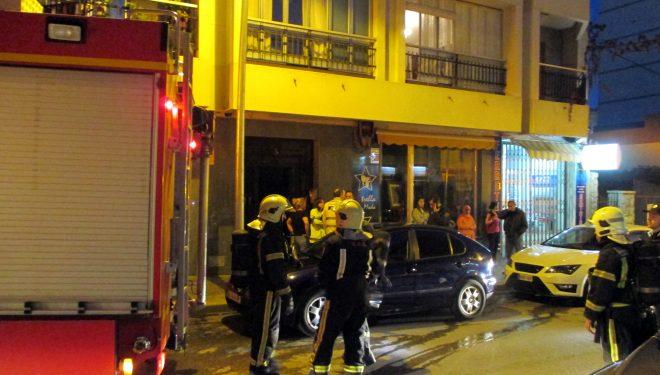 Incendio en la calle San Juan de Dios