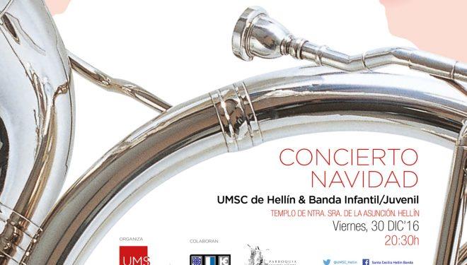 Concierto tradicional de Navidad de  La Unión Musical Santa Cecilia de Hellín