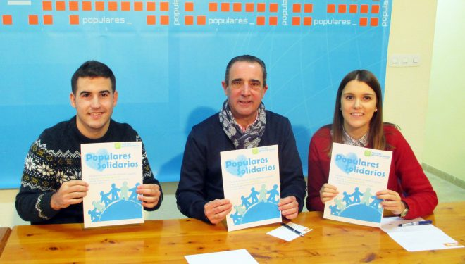 """Nuevas Generaciones de Hellín presentan su campaña """"Populares Solidarios"""""""