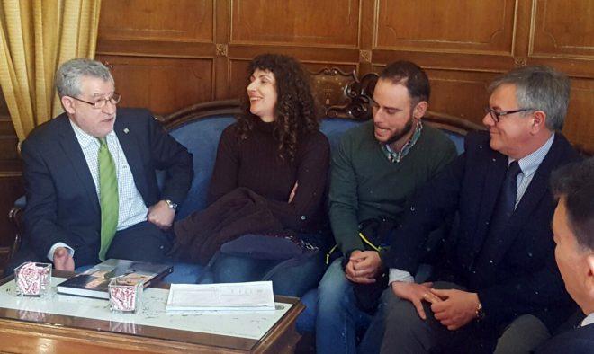 Ángel Felpeto Con Marta Ferreras, Agustín Gabarrón y Ramón García.