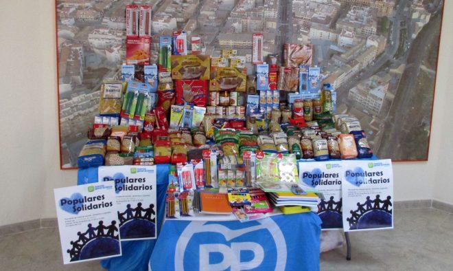 Alimentos, material escolar y juguetes