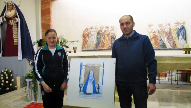 María Pilar Ruiz ganadora del concurso de Dibujo Infantil