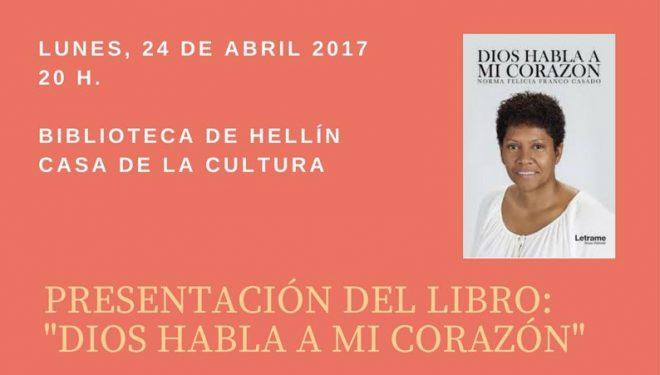 """Presentación en Hellín del libro """"Dios habla a mi corazón"""", de Norma Felicia Franco Casado"""