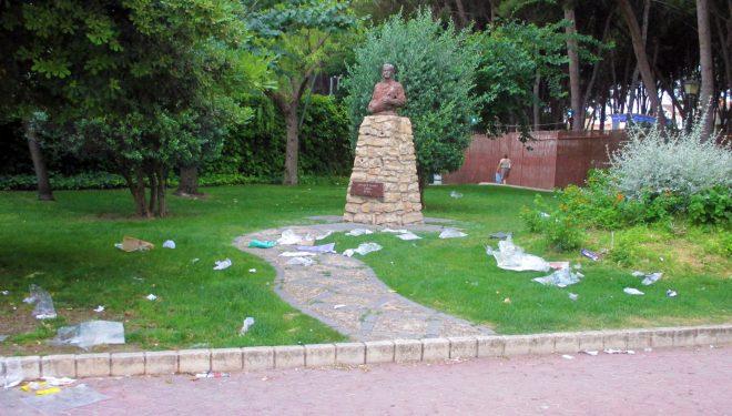 Lamentable aspecto del Parque Municipal