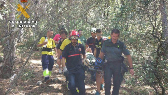 La Guardia Civil rescata a un senderista accidentado en la senda que conduce al nacimiento del río Mundo