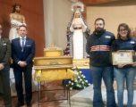 La Hermandad de la Virgen de la Alegría conmemoró  el tercer aniversario de la bendición de su imagen