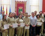 Entrega de diplomas a los alumnos del Taller de Empleo de Carpintería