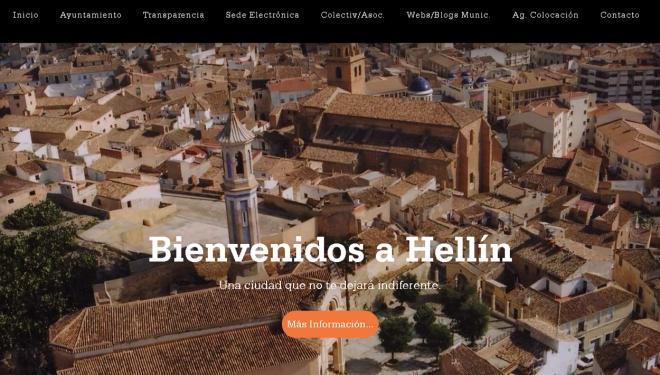 El Ayuntamiento de Hellín renueva su página web