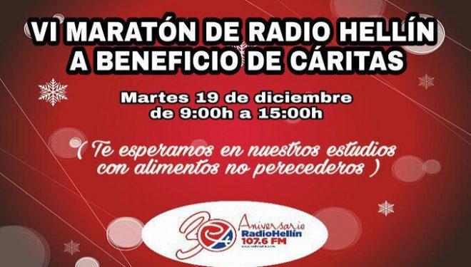 VI Maratón Solidaria de Radio Hellín a beneficio de Cáritas