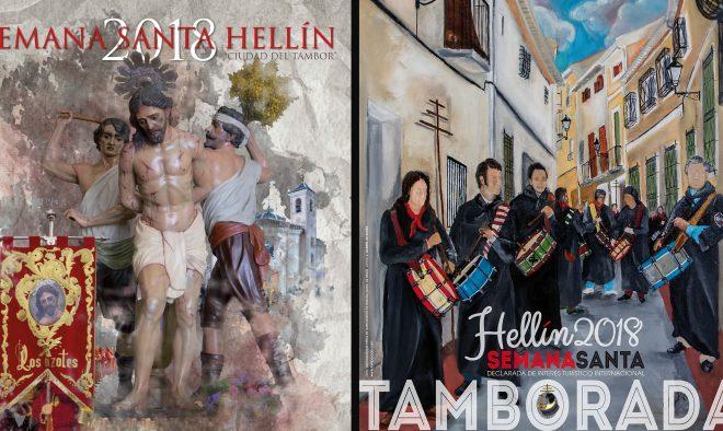 Carteles de la Semana Santa y de la Tamborada de Hellín / EFDH.