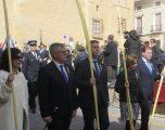 Santiago Cabañero presidió la procesión del Domingo de Ramos