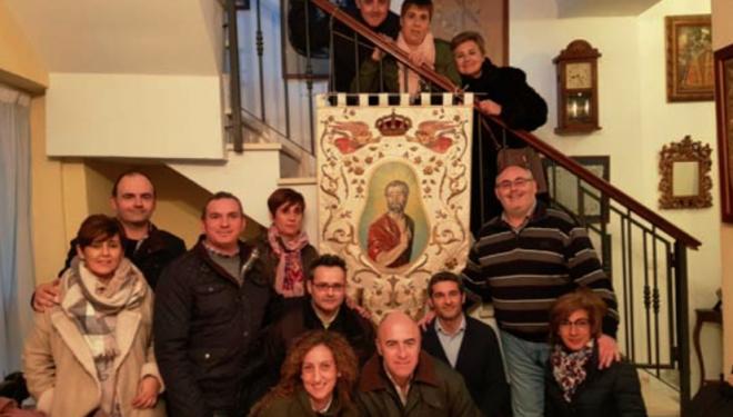 Restaurado el estandarte de la Hermandad de la Negación de San Pedro