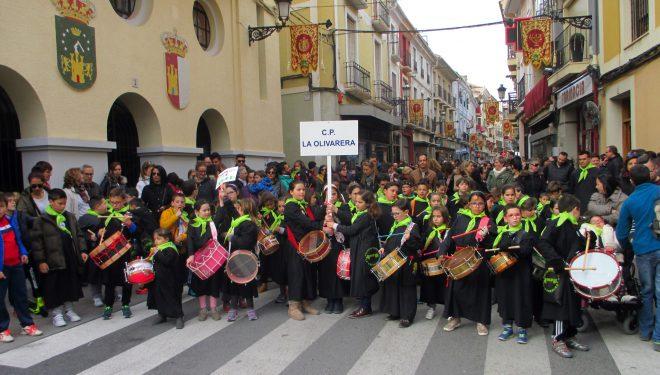 Los escolares protagonizaron un tierno preámbulo de la Semana Santa