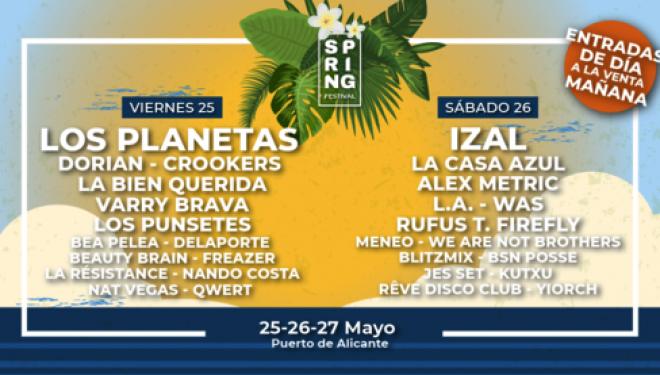 Los Planetas e Izal encabezan el cartel del Spring Festival en Alicante