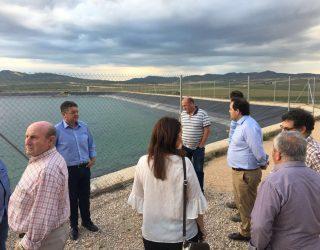 Francisco Núñez y Manuel Serena defienden las políticas del agua del PP en el Rincón del Moro