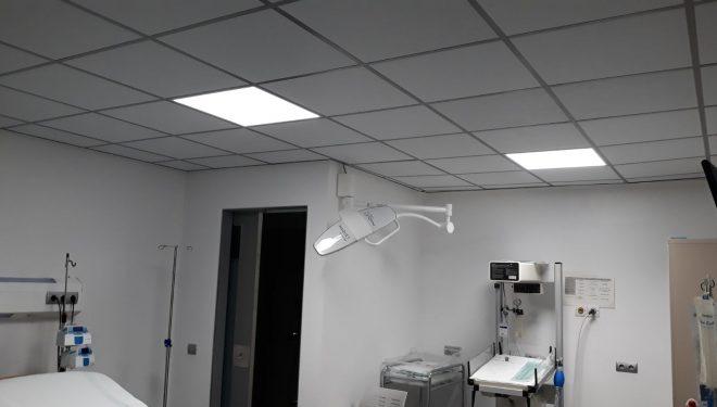 Con el cambio de las luminarias tradicionales a LED en los centros sanitarios del Área