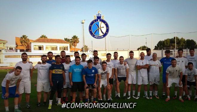 Primer partido amistoso del Hellín CF con victoria ante el juvenil del Albacete