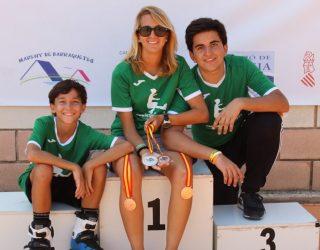 Una medalla de plata y otra de bronce para la patinadora hellinera Cristina Mellado