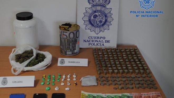 Un detenido como presunto autor de un delito de tráfico de drogas