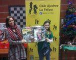 María Victoria Roldán ganadora del torneo de ajedrez de La Felipa