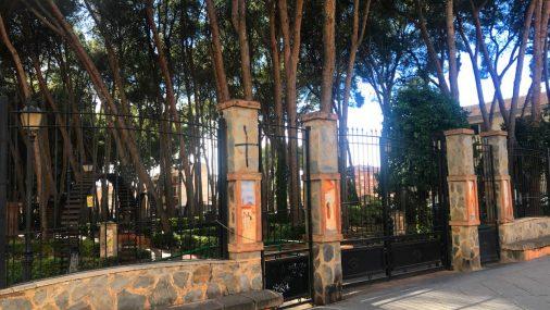 El Parque Municipal cerrado ante las fuertes rachas de viento