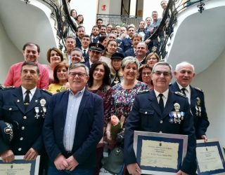 Homenaje a los seis policías locales jubilados