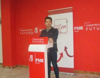 José Valverde, secretario de las Juventudes Socialista, sale al paso de las declaraciones de Nuevas Generaciones del PP