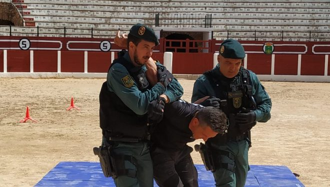 Más de 1.200 niños presenciaron la exhibición de las distintas secciones de la Guardia Civil