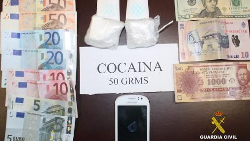 La Guardia Civil detiene una persona por tráfico de drogas