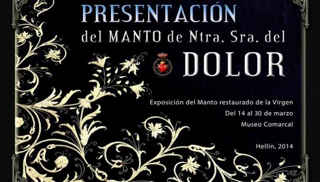 Exposición sobre la restauración del manto de Nuestra Señora del Dolor