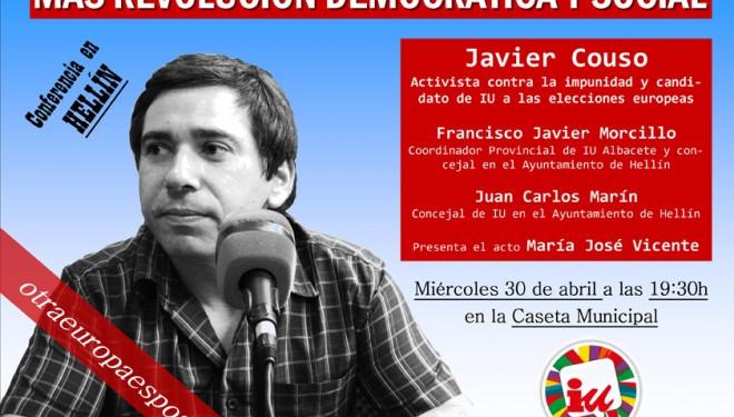 Conferencia de Javier Couso, candidato de IU a las elecciones Europeas