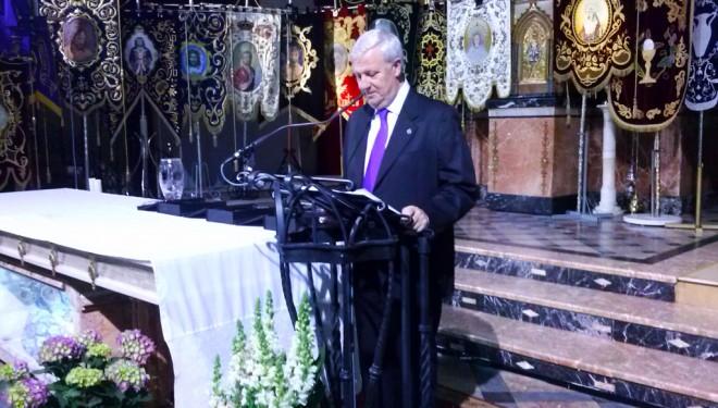 Ángel Romero fue el encargado de pregonar la Semana Santa del 2014