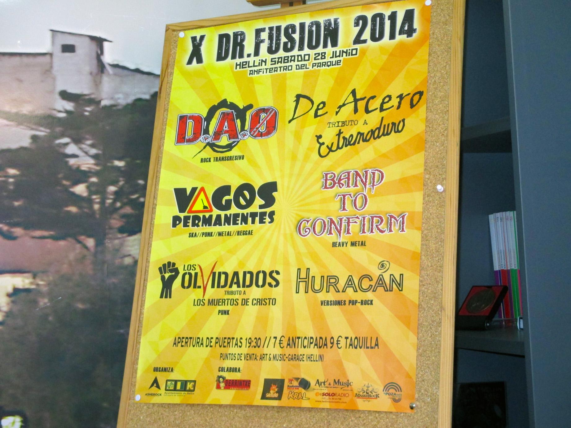 Cartel Dr Fusión