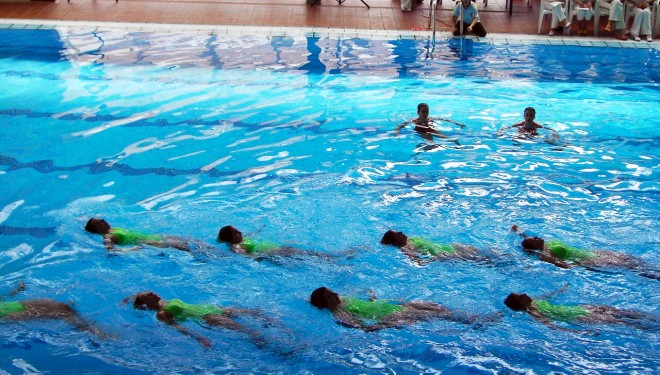 Éxito de la natación sincronizada hellinera