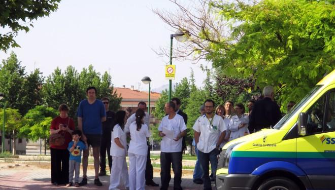 Simulacro de emergencia en el Centro de Salud nº 2 de Hellín