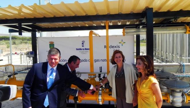 María Dolores de Cospedal inaugura la llegada del gas natural