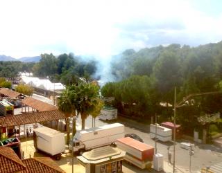 Conato de incendio en el Parque Municipal
