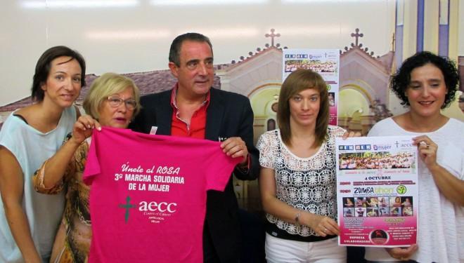 """Marcha Solidaría  contra el cáncer de mama con el lema """"Súmate al rosa"""""""