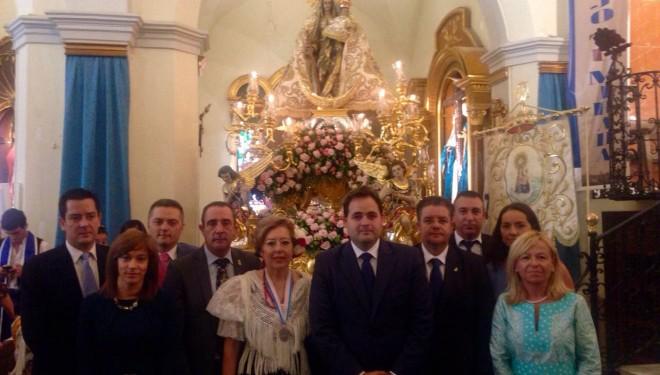 Procesión de la imagen de la Virgen del Rosario