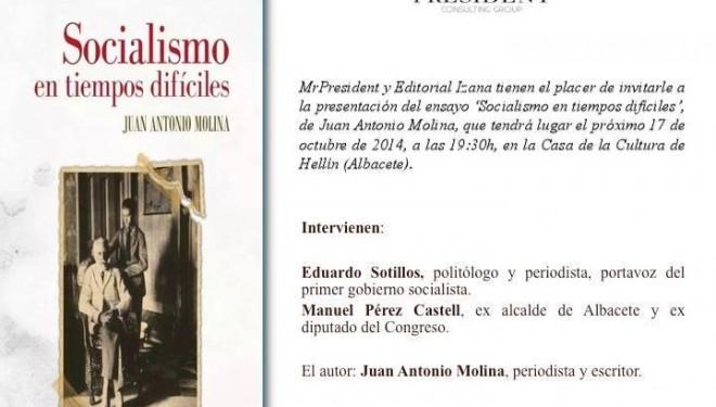 """Presentacion del  libro """" Socialismo en tiempos difíciles"""""""